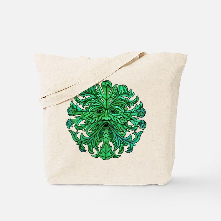 Green Man Gaze Tote Bag