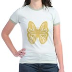 large yellow butterfly Jr. Ringer T-Shirt