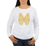 large yellow butterfly Women's Long Sleeve T-Shirt