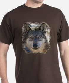 Gray Wolf Face T-Shirt