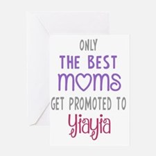 Best Moms to Yiayia Greeting Cards