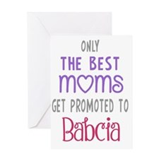 Best Moms to Babcia Greeting Cards