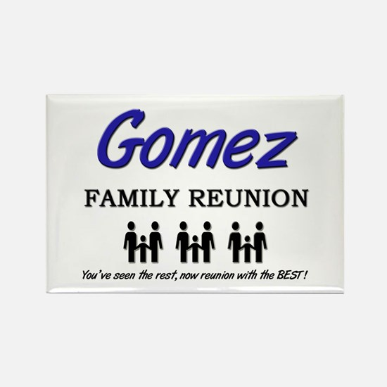 Gomez Family Reunion Rectangle Magnet