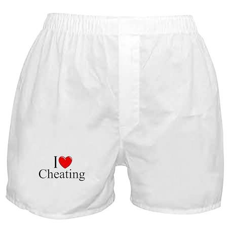 """""""I Love (Heart) Cheating"""" Boxer Shorts"""