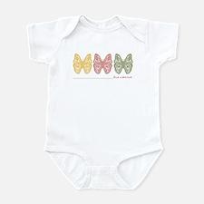 3 butterflies big cousin Infant Bodysuit