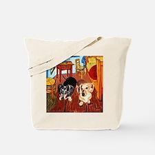 Double Dachshunds Van Gogh Tote Bag