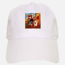 Double Dachshunds Van Gogh Baseball Baseball Cap