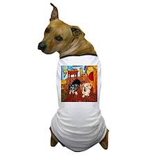 Double Dachshunds Van Gogh Dog T-Shirt