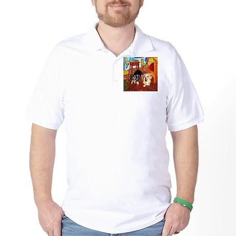 Double Dachshunds Van Gogh Golf Shirt