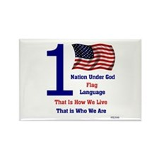One Nation Under God Rectangle Magnet