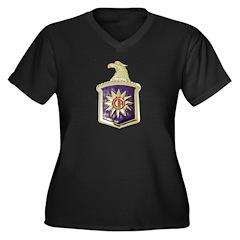 C.I.A. Women's Plus Size V-Neck Dark T-Shirt