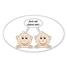 Are we there yet? Twins Oval Decal
