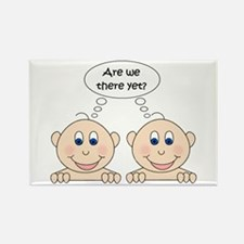 Are we there yet? Twins Rectangle Magnet