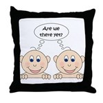 Are we there yet? Twins Throw Pillow