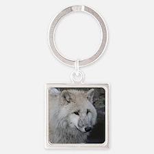 Wolf 0215 Square Keychain