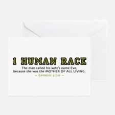 1 Human Race (YT) 2.0 - Greeting Cards (Pk of 10)