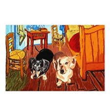Double Dachshunds Van Gogh Postcards (Package of 8