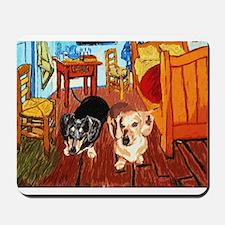 Double Dachshunds Van Gogh Mousepad