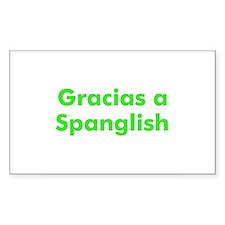 Gracias a Spanglish Rectangle Decal