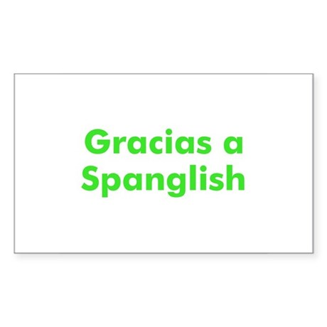 Gracias a Spanglish Rectangle Sticker