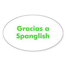 Gracias a Spanglish Oval Decal