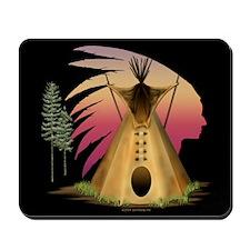 Tipi Chief Sunrise Mousepad