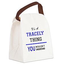 Unique Trace Canvas Lunch Bag