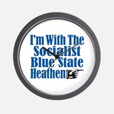 I'm With the Socialist Blue State Heathen Wall Clo