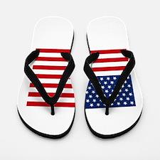 Stars and Stripes USA Flip Flops