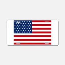 Stars and Stripes USA Aluminum License Plate