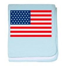 Stars and Stripes USA baby blanket