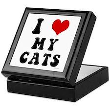 I Love (Heart) My Cats Keepsake Box