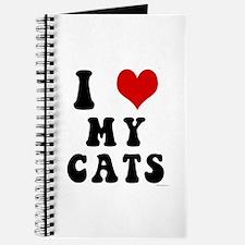 I Love (Heart) My Cats Journal