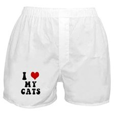I Love (Heart) My Cats Boxer Shorts