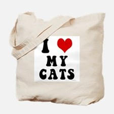 I Love (Heart) My Cats Tote Bag
