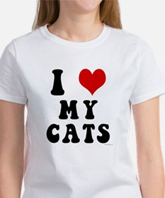 I Love (Heart) My Cats Tee