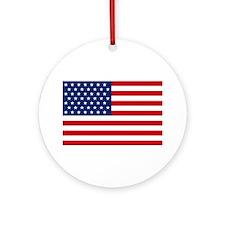 Stars and Stripes USA Ornament (Round)