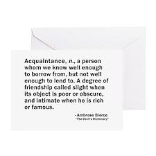Acquaintance Greeting Card