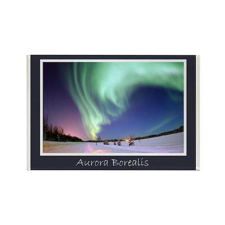 Northern Lights Rectangle Magnet