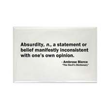 Absurdity Rectangle Magnet (100 pack)