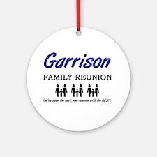 Garrison Family Reunion Ornament (Round)