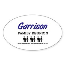 Garrison Family Reunion Oval Decal