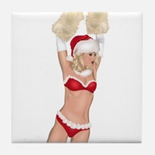 Santa's Angel #2 Tile Coaster