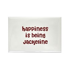 happiness is being Jackeline Rectangle Magnet