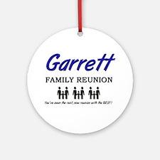 Garrett Family Reunion Ornament (Round)