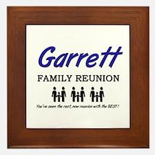 Garrett Family Reunion Framed Tile