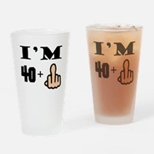 Middle Finger 41st Birthday Drinking Glass