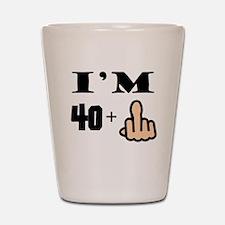 Middle Finger 41st Birthday Shot Glass