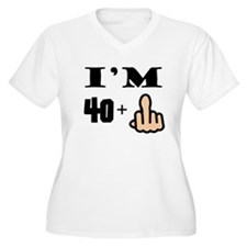 Middle Finger 41st Birthday Plus Size T-Shirt
