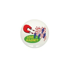 Love Magnet #1 Mini Button (100 pack)